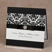 Wedding Invitations Melbourne Black Tie Wedding Invitations