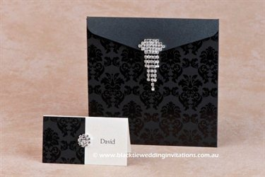 Melbourne Black Tie Wedding Invitations wedding invites
