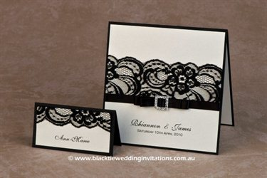 Wedding Invitations Melbourne Black Tie Wedding Invitations wedding cards